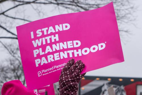 Planned Parenthood protest sign