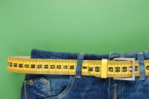 Jeans measuring belt