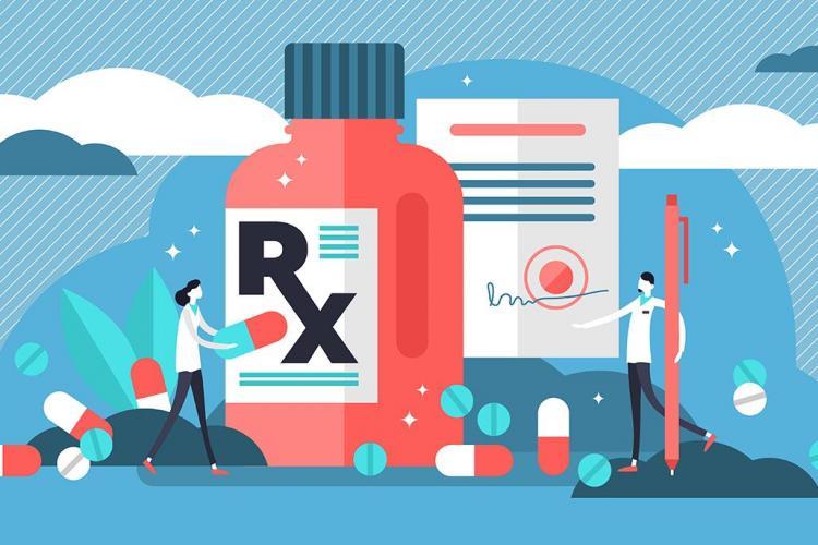 Antibiotic prescription illustration