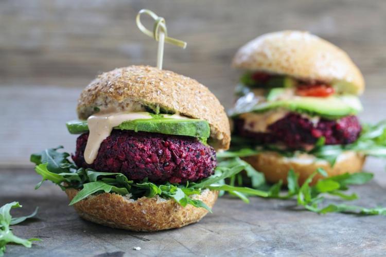 Plant based burgers
