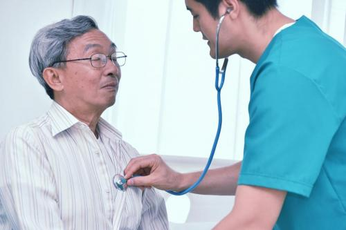 Doctor checkup older patient