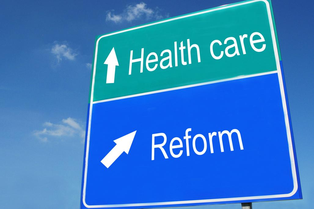 Healthcare reform sign
