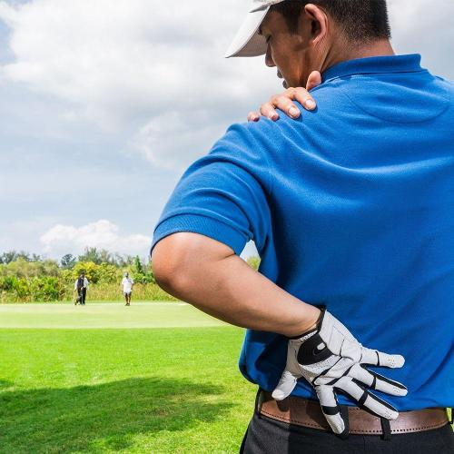 Golfer back pain