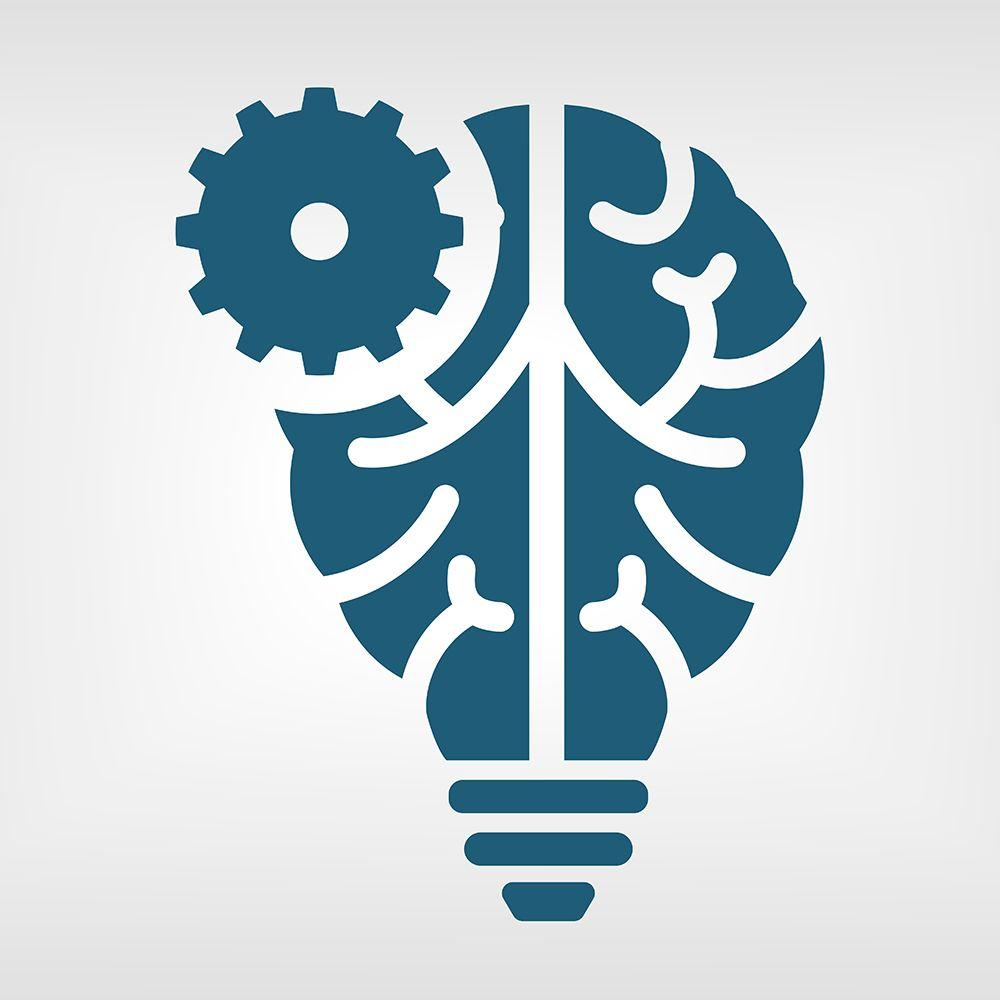 Brain gears graphic