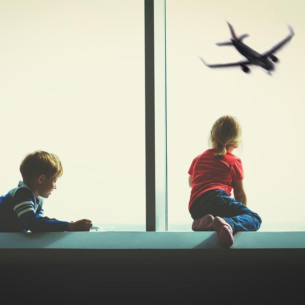 Children airport window