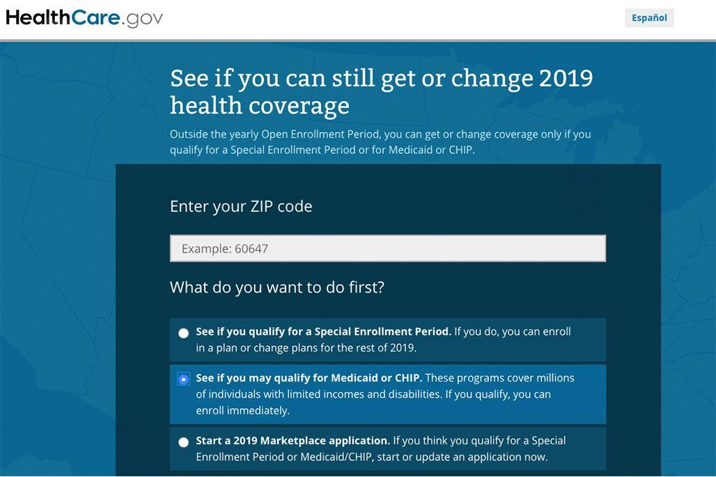 Medicaid eligibility page