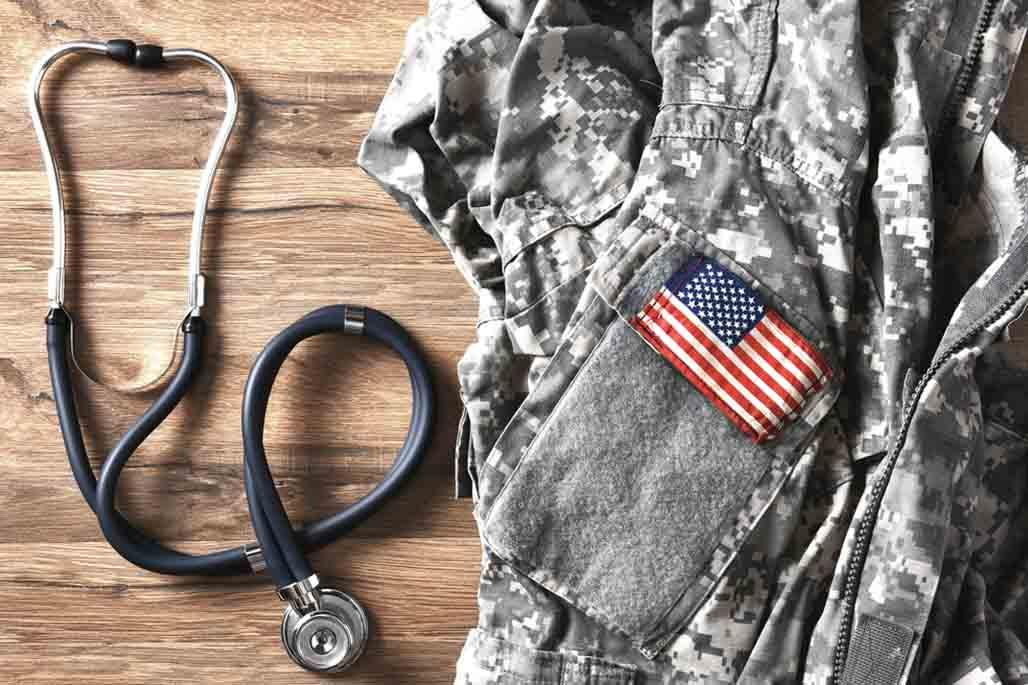 Veteran uniform and stethoscope