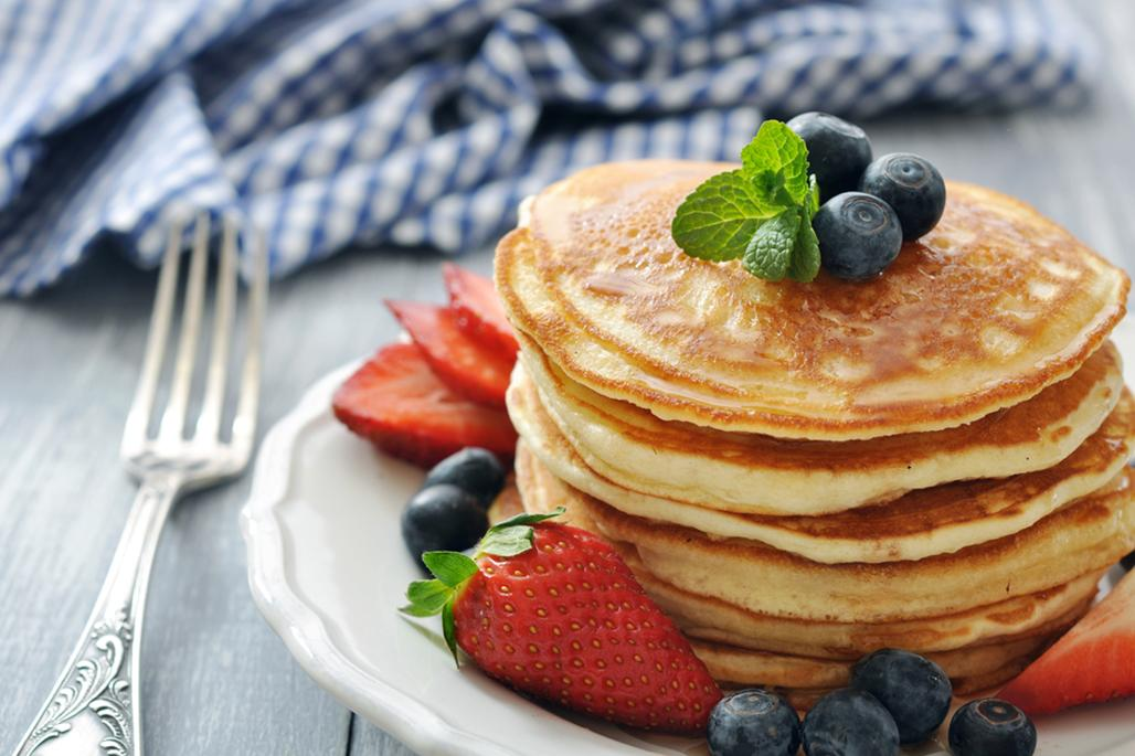 Healthy pancake stack