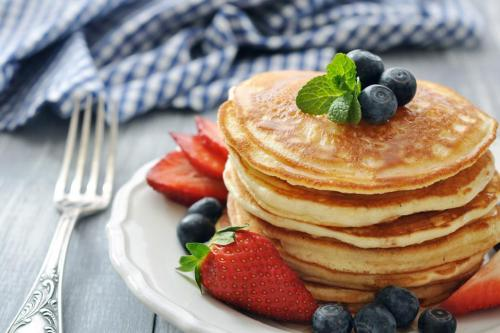 Healthy pancake stack
