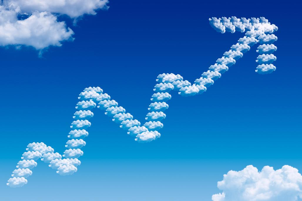 Upwards cloud arrow