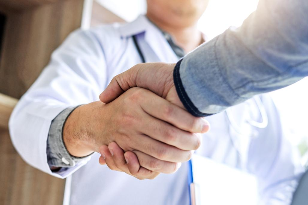Doctor shaking hand