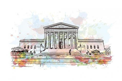 Supreme court painting