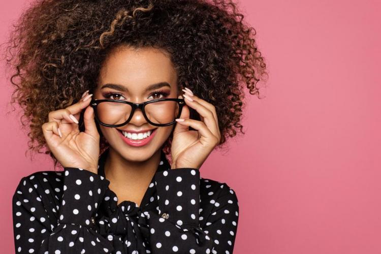 Female wearing glasses