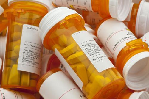 Full prescription bottles