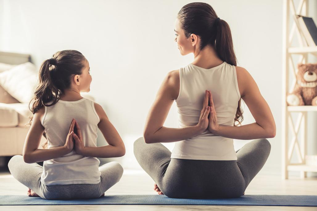 Mom daughter yoga