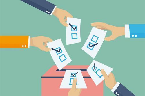 Hands casting votes