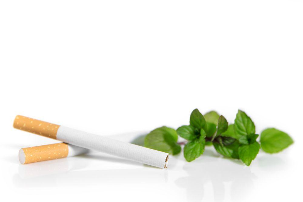 cigarettes mint leaves