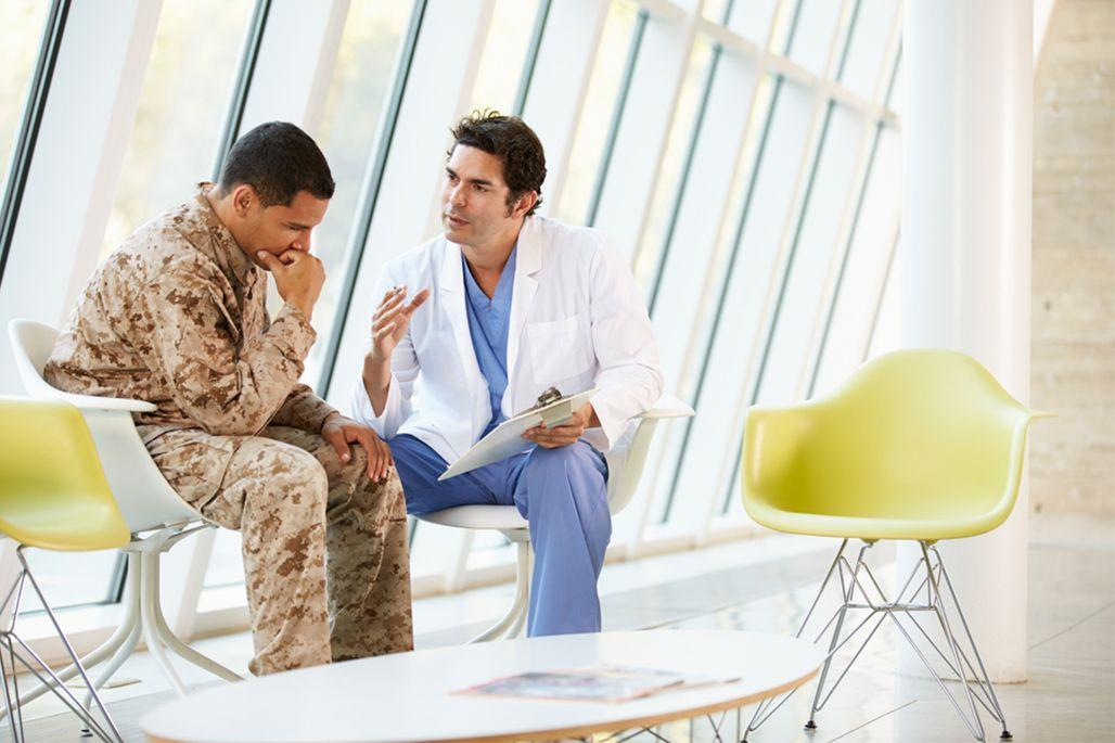 Soldier with doctor