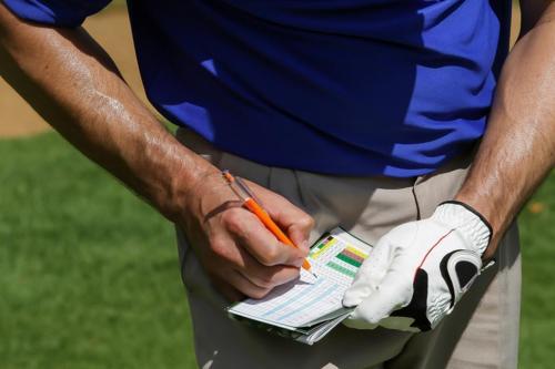 Golfer scoring card