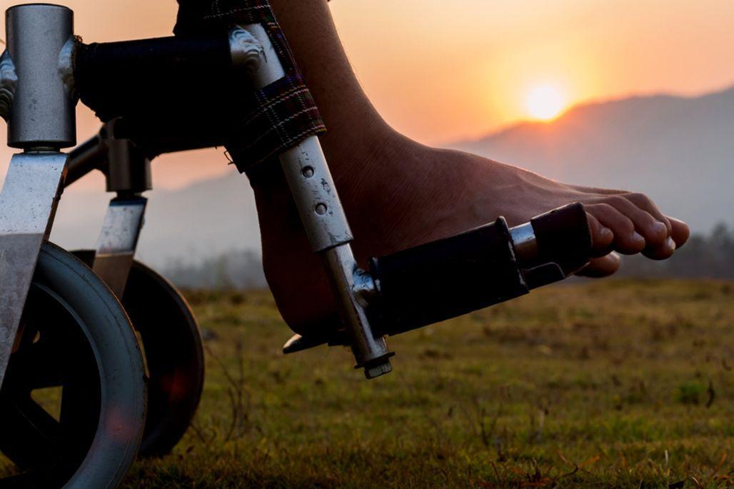 feet in wheelchair
