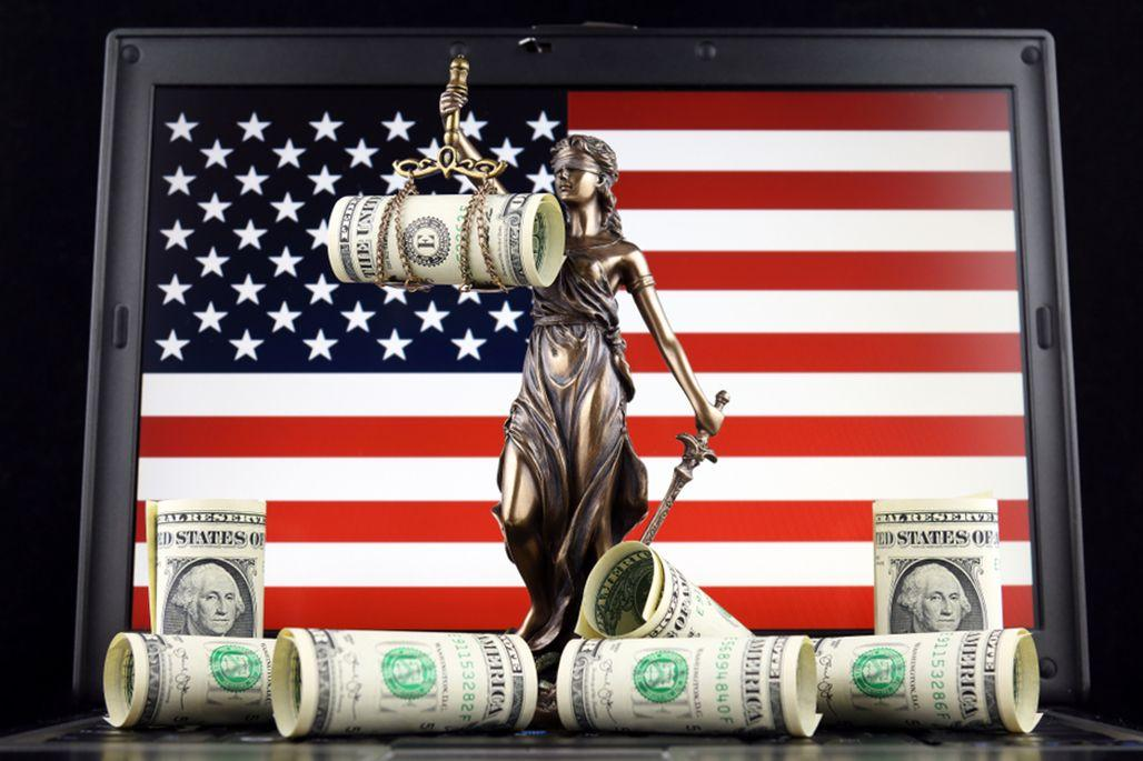 American flag money