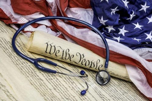 American flag constitution stethoscope