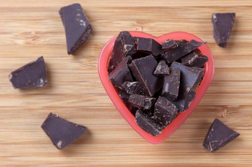 dark chocolate heart bowl