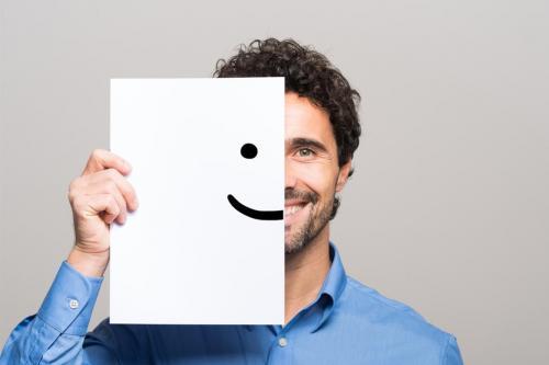 Employee smiling face