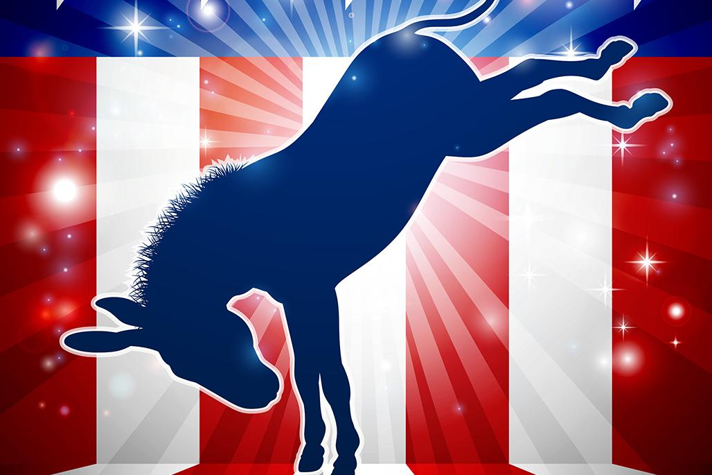 Democratic donkey kicking
