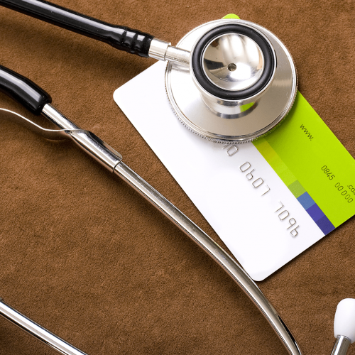 Stethoscope health insurance card