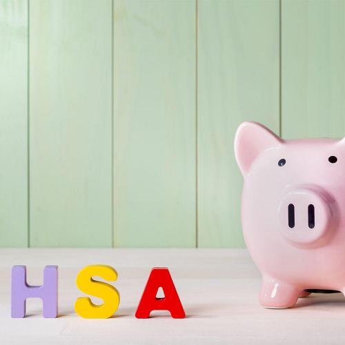 Piggy bank HSA letters
