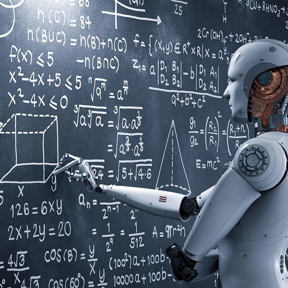 Robot writing chalkboard