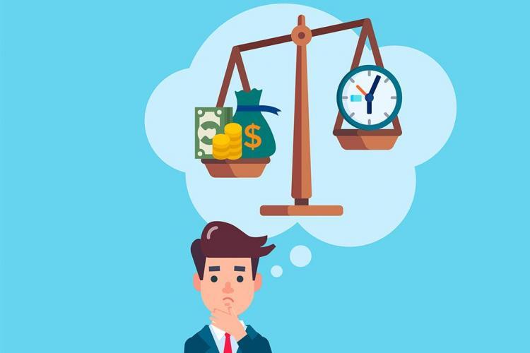 Weighing money time