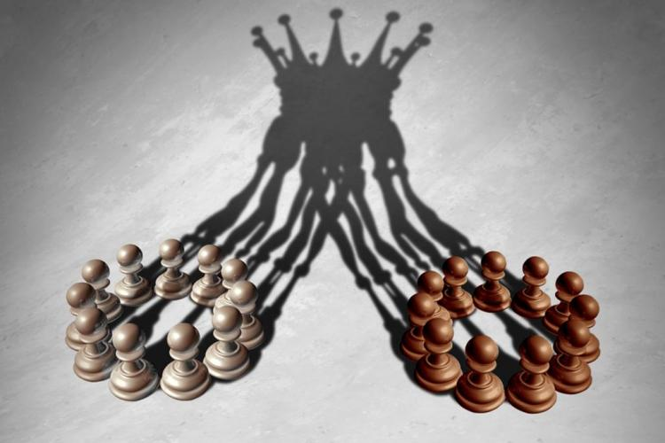 Combined chess pieces