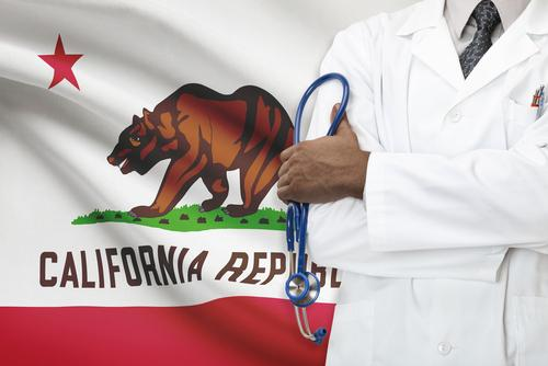 cheap health insurance california flag