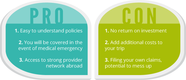 Graphic travel health insurance pros cons